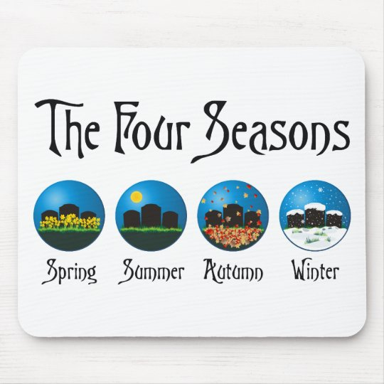 Four Seasons At The Cemetery Mouse Mat