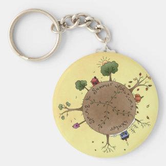 Four Seasons Basic Round Button Key Ring