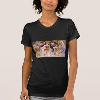 Four Seasons by Alphonse Mucha T-Shirt