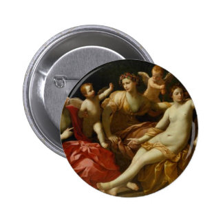Four seasons by Guido Reni 6 Cm Round Badge