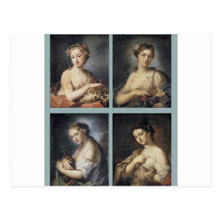 Four Seasons by Rosalba Carriera Postcard