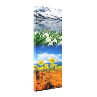 Four Seasons Stretched Canvas Print