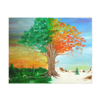 Four seasons gallery wrap canvas