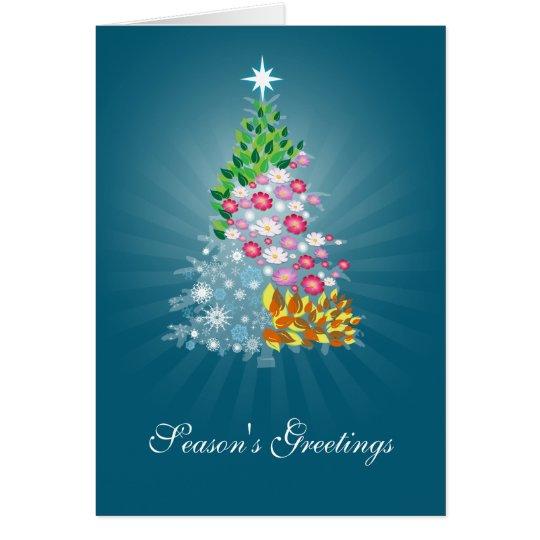 Four Seasons Greeting Card Blue