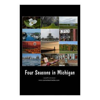 four seasons in michigan poster