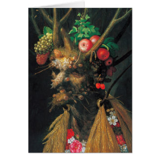 Four Seasons In One Head - Arcimboldo -1590 Card
