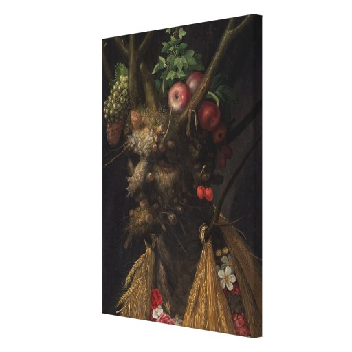 Four Seasons in the One Head, c.1590 2 Stretched Canvas Print