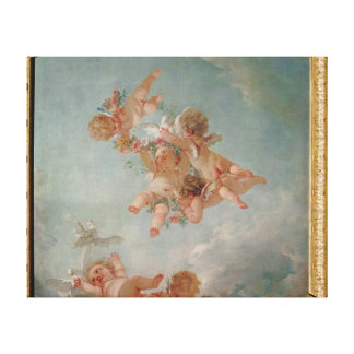 Four Seasons in the Salle du Conseil  - Spring Stretched Canvas Print