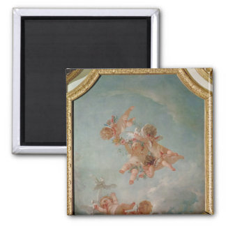 Four Seasons in the Salle du Conseil  - Spring Square Magnet