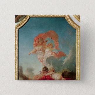 Four Seasons in the Salle du Conseil  - Summer 15 Cm Square Badge