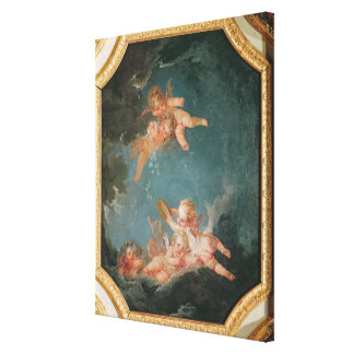 Four Seasons in the Salle du Conseil  - Winter Stretched Canvas Prints