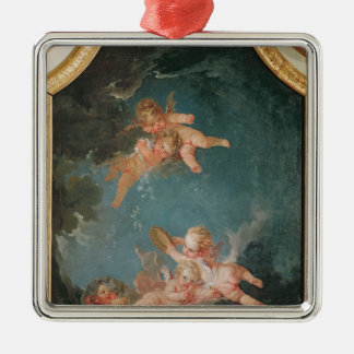 Four Seasons in the Salle du Conseil  - Winter Silver-Colored Square Decoration