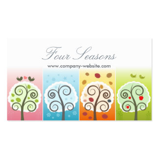 Four Seasons Pack Of Standard Business Cards