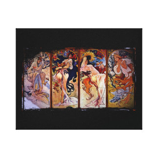 Four Seasons Personified by Women Canvas Prints