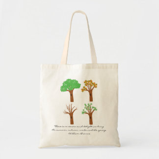 Four Seasons Quote Tote Budget Tote Bag