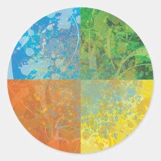 Four Seasons Round Sticker