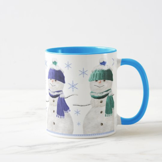 Four Snowmen Christmas Mug