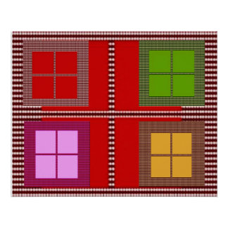 FOUR SQUARE Decorations Poster