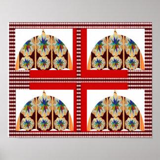 FOUR SQUARE Decorations Umbrella Diamonds Poster