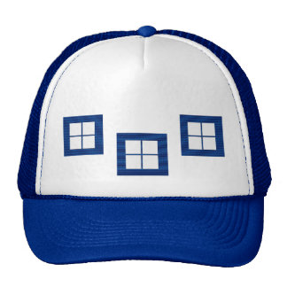 Four Squared Pocket Design + Text or Image Mesh Hats