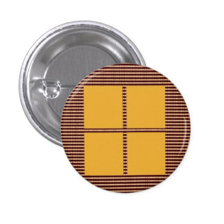 Four Squares Gold 3 Cm Round Badge