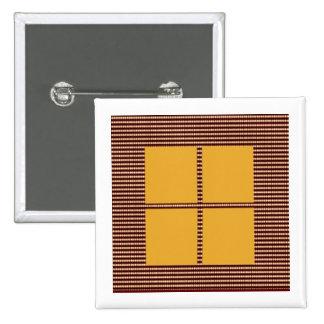 Four Squares Gold 15 Cm Square Badge