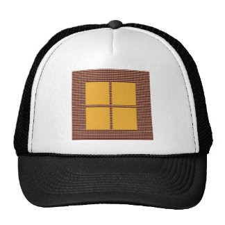 Four Squares Gold Trucker Hat