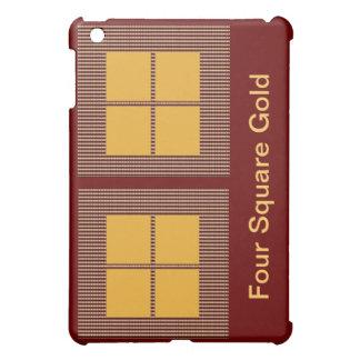 Four Squares Gold iPad Mini Cases