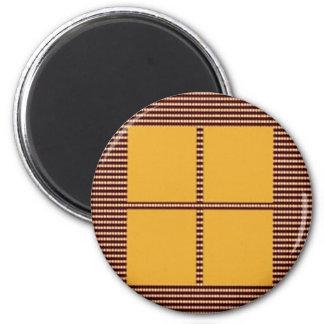 Four Squares Gold Magnet