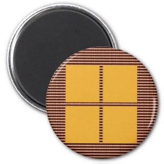 Four Squares Gold Refrigerator Magnets