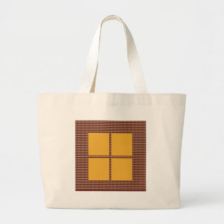 Four Squares Gold Tote Bags