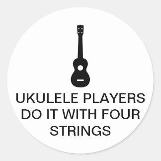 Four Strings Round Sticker