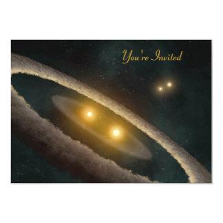 Four Suns 13 Cm X 18 Cm Invitation Card