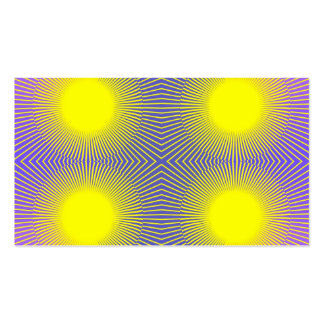 Four Suns - Purple and Yellow Abstract Business Card Template