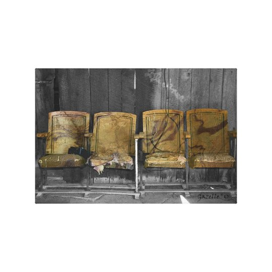 Four Theatre Seats Canvas Print
