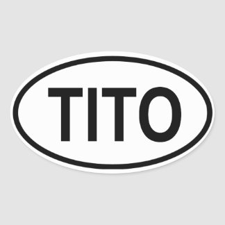 FOUR Tito Oval Sticker