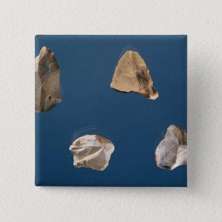 Four tools, 35000-10000 BC 15 Cm Square Badge