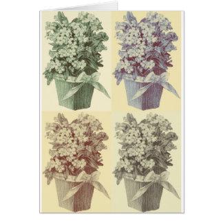 Four Topiaries Card