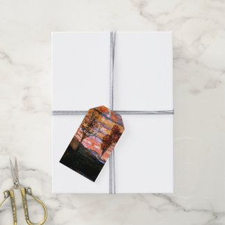 Four Trees by Egon Schiele Gift Tags