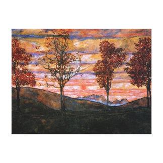 Four Trees Canvas Print