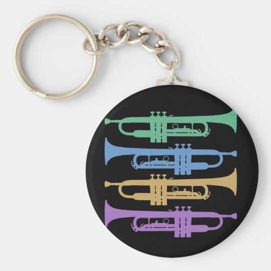 Four Trumpets Key Ring