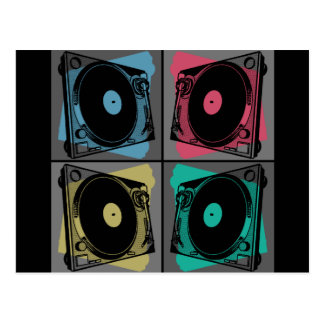 Four Turntables Graphic Postcard