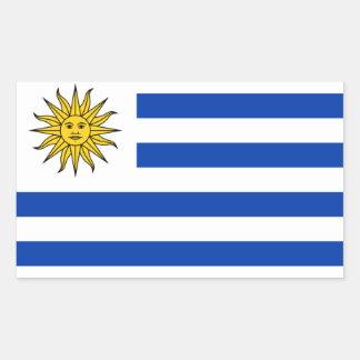 FOUR Uruguay National Flag Rectangular Sticker