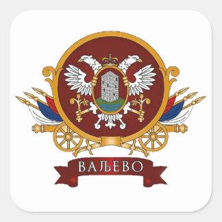 FOUR Valjevo Coat of Arms Square Sticker