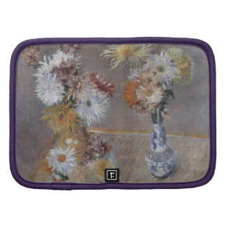 Four Vases of Chrysanthemums by Caillebotte Folio Planner