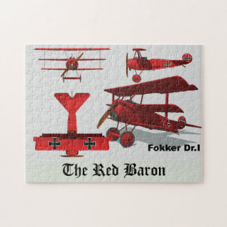 """Four Views of The Fokker """"Red Baron"""" Jigsaw Puzzle"""