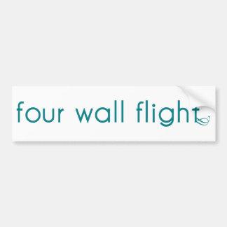 Four Wall Flight Bumper Sticker