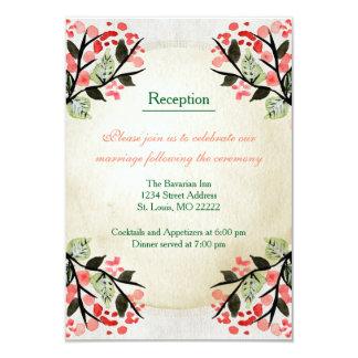 Four Watercolor Bouquets - Reception Invitation