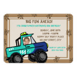 Four Wheel Fun/ Birthday 13cm X 18cm Invitation Card