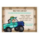 Four Wheel Fun Truck Birthday Personalized Invite